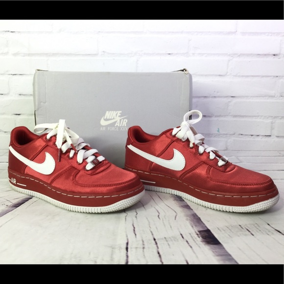 Nike Shoes Air Force 1 Valentines Satin Sneakers Size 6 Poshmark
